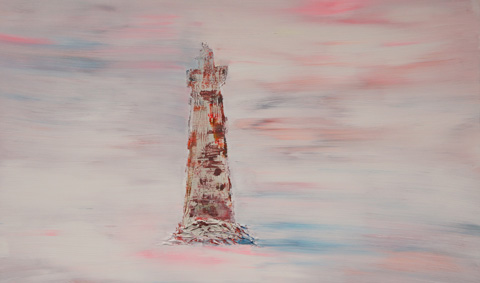 The lighthouse. 100x150 Mixed media on canvas